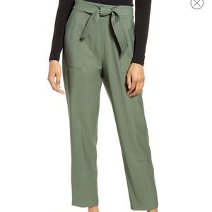 New Leith Hunter Green Cropped Pants
